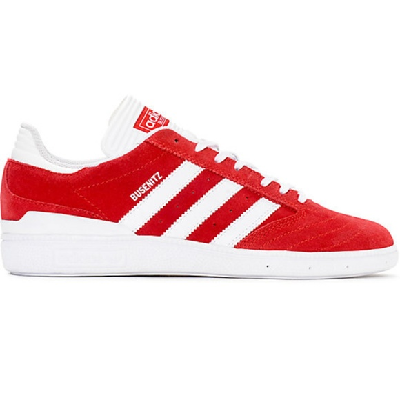 b8d45a07b63 adidas Other - Adidas Busenitz Red White Suede Shoes Men s ...